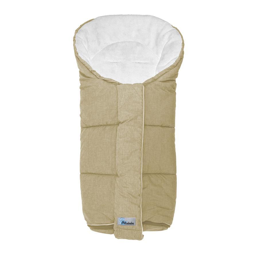 ALTABEBE Coprigambe a sacco invernale per passeggini beige -whitewash