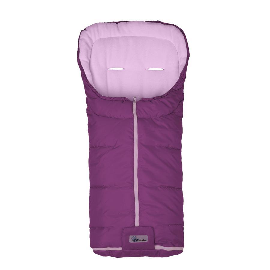ALTABEBE Coprigambe a sacco invernale Basic per passeggini viola-rosa
