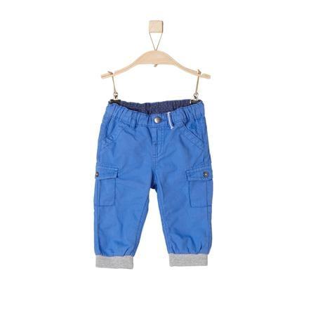 s. Olive r Bavlněné kalhoty s manžetami medium modré