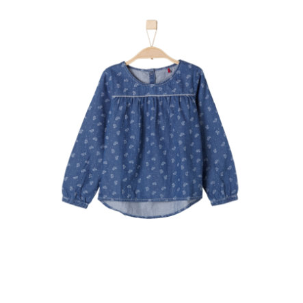 s.Oliver Girls Bluse blau denim