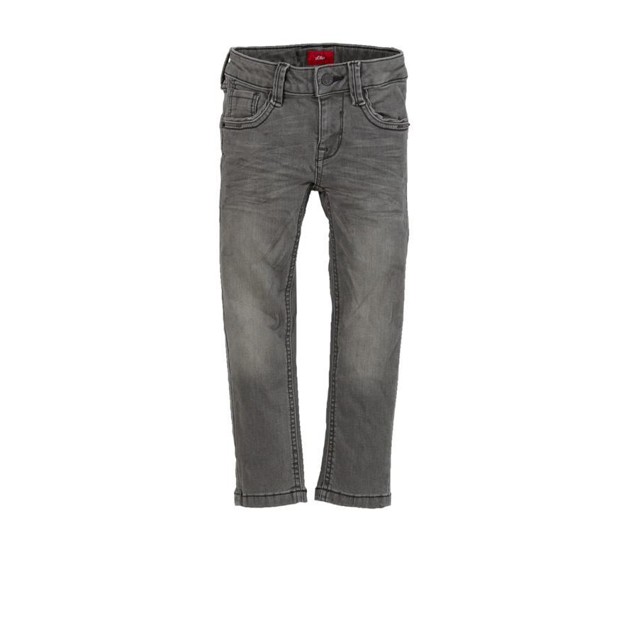 s.Oliver Boys Pantalon en jean gris régulier