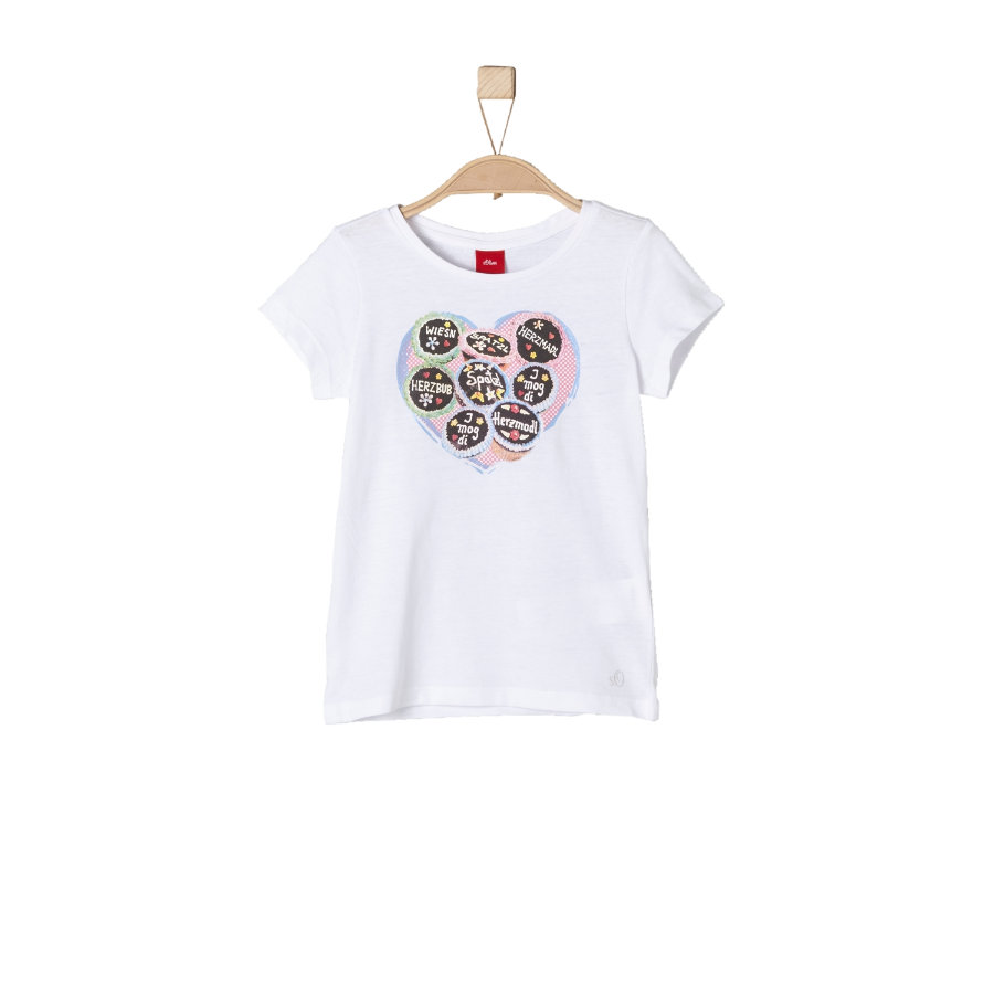 s.Oliver Girls T-Shirt Oktoberfest white