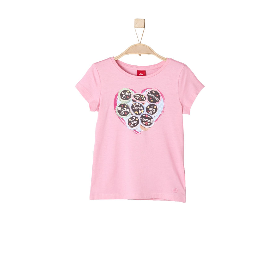 s.Oliver Girls T-Shirt Oktoberfest light pink