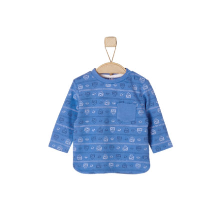 s.Oliver Baby Longsleeve medium blue allover