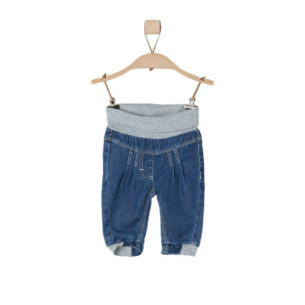 s.Oliver baby Hose blue denim non stretch