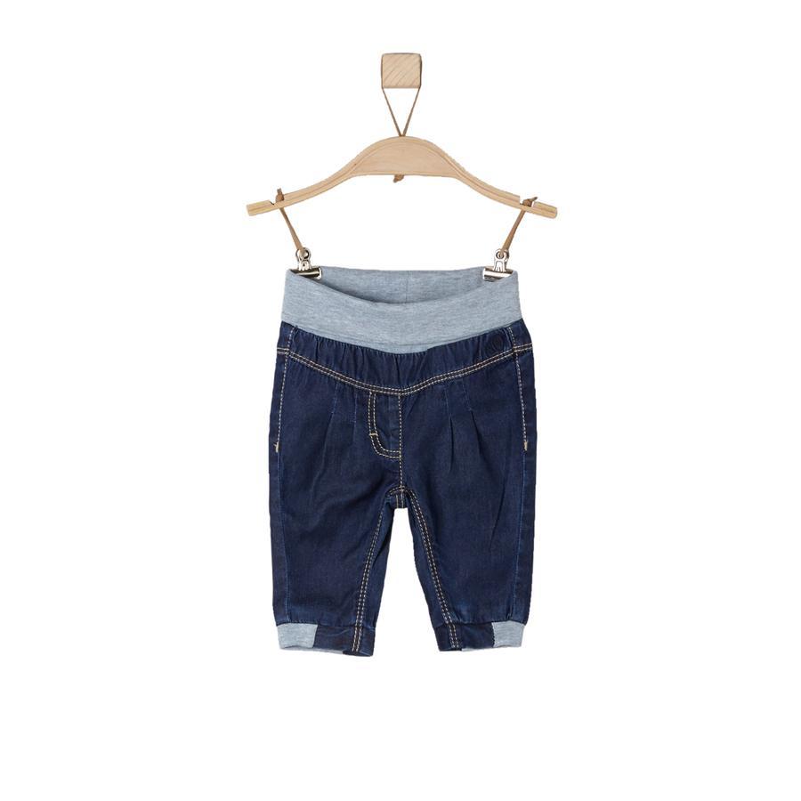 s.Oliver pantalones de bebé azul denim no stretch