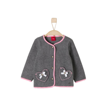 s.Oliver Girls Fleecejacke Trachten dark grey melange