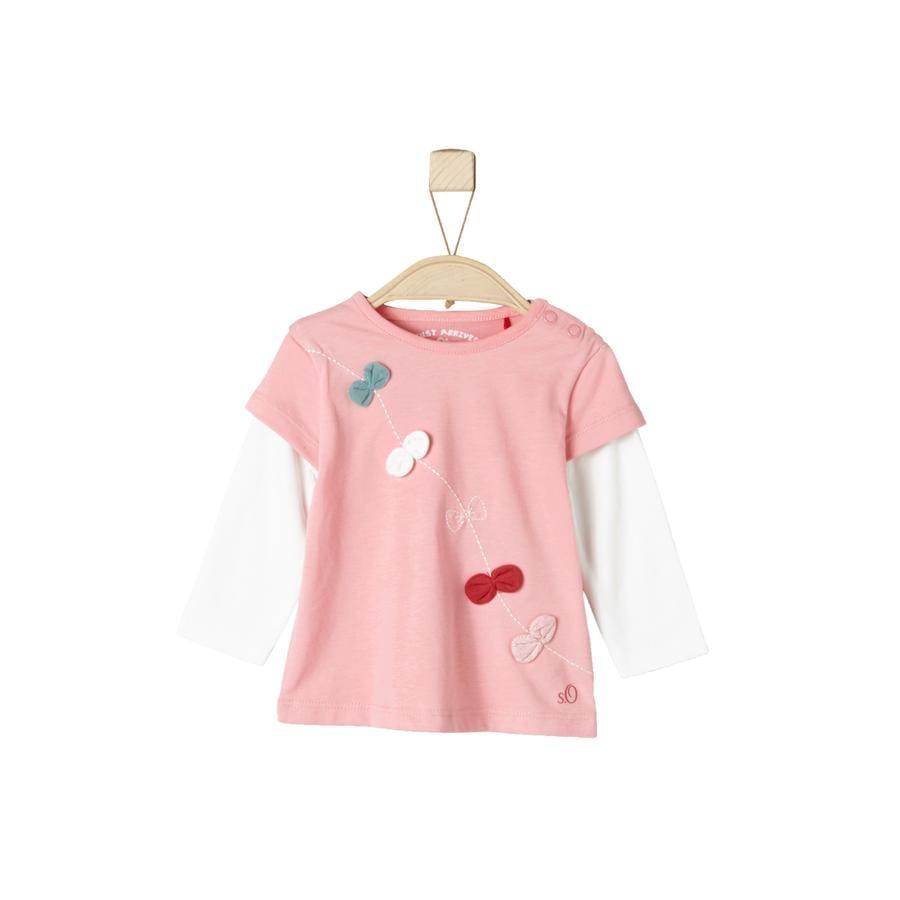 s.Oliver Girl s Manica lunga rosa chiaro