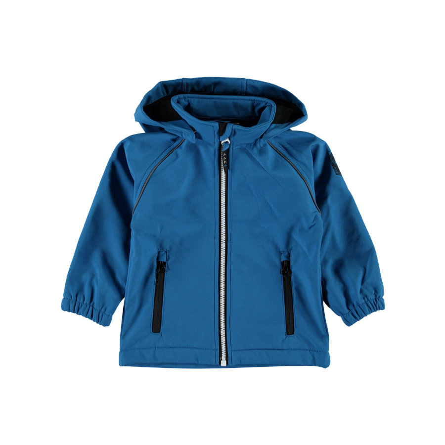 name it Boys Kurtka Softshell Alfa mykonos blue