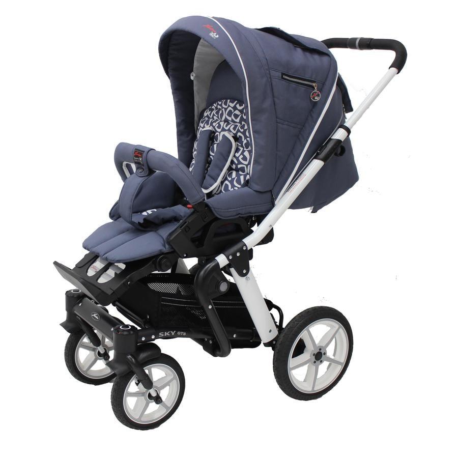 HARTAN Wózek dziecięcy Sky GTS (907) Arubablue/White Retro