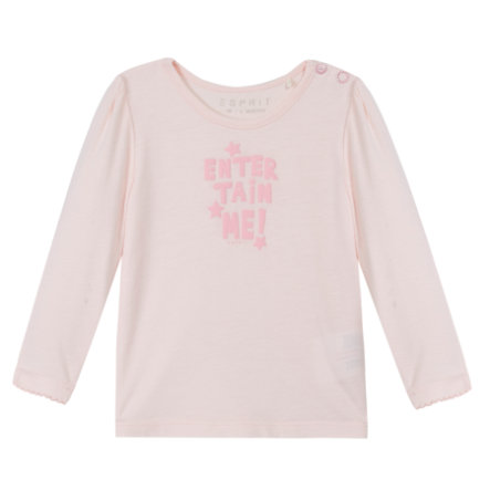 ESPRIT Newborn Shirt met lange mouwen lichtroze