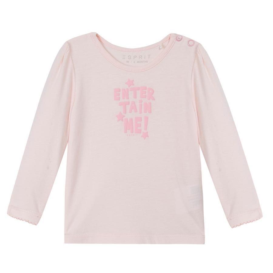 ESPRIT Newborn Camisa de manga larga rosa claro