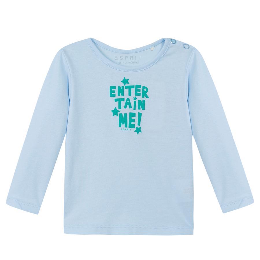 ESPRIT Newborn Shirt met lange mouwen licht blauw