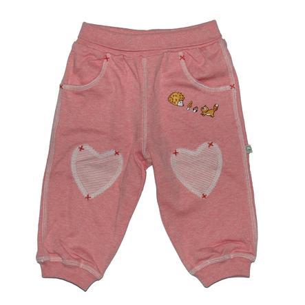Pantalon de jogging EBI & EBI Fairtrade vieux rose uni