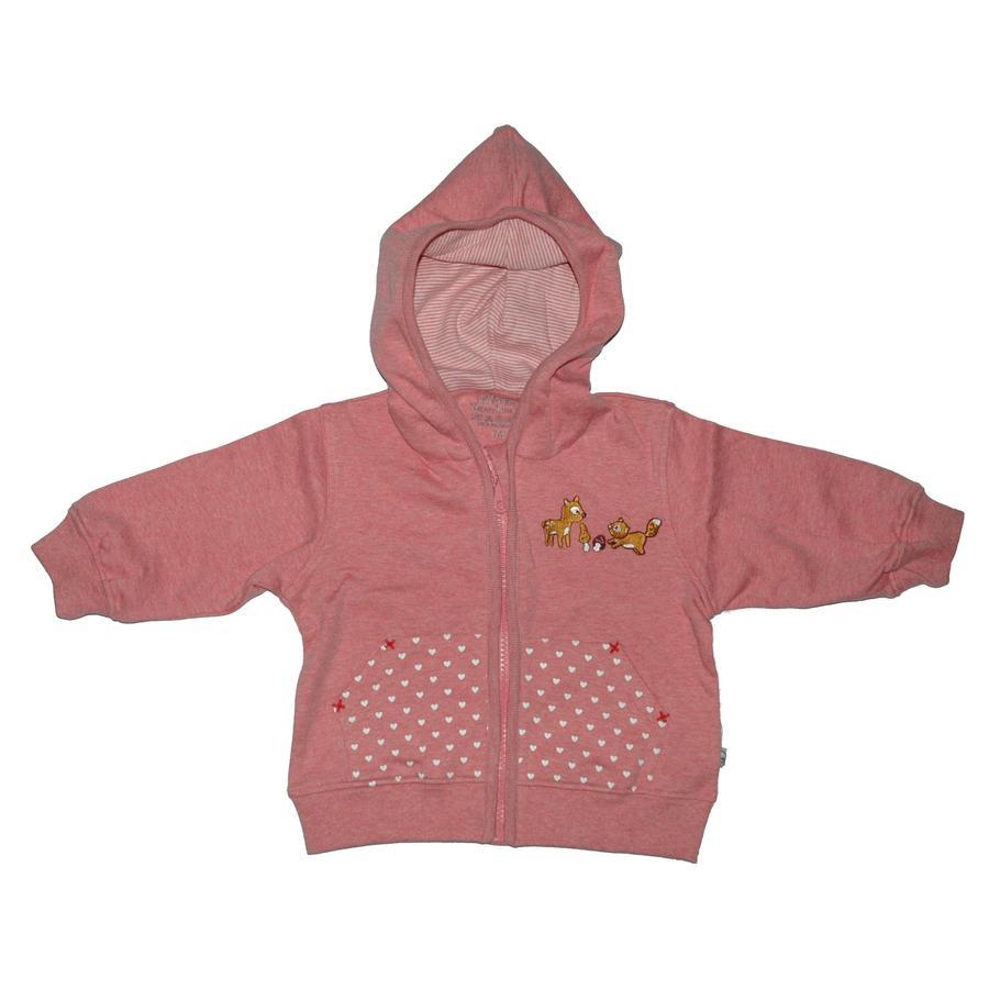 EBI & EBI Chaqueta con capucha Fairtrade rosa viejo