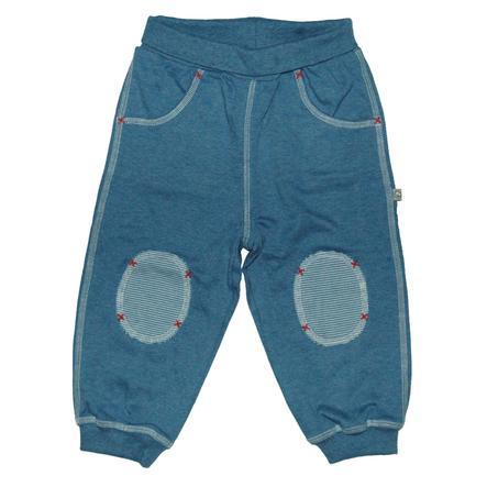 EBI & EBI Fairtrade joggingbyxa blå uni