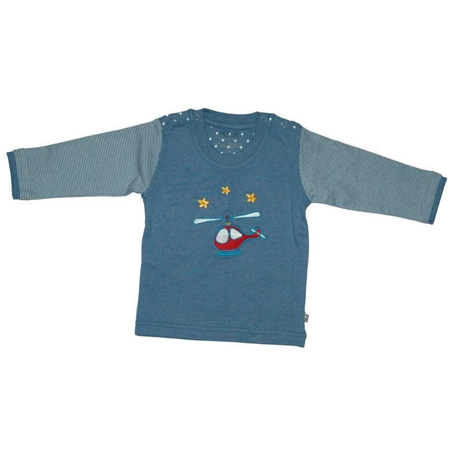 EBI & EBI Fairtrade Bluzka z długim rękawem, niebieski