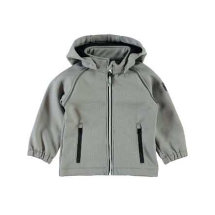 name it Uni Softshell-Jacke Alfa frost gray