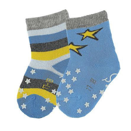 Sterntaler Boys Chaussettes de crabe rayures/étoiles bleu azur
