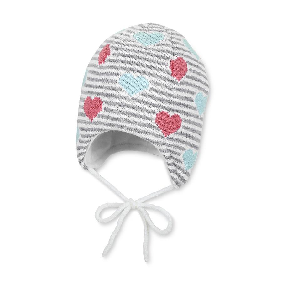 STERNTALER Bonnet tricoté, Fille, Coeur, écru