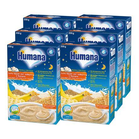 Humana Milchbrei Gute-Nacht mit Vollkorn & Banane 6 x 200 g