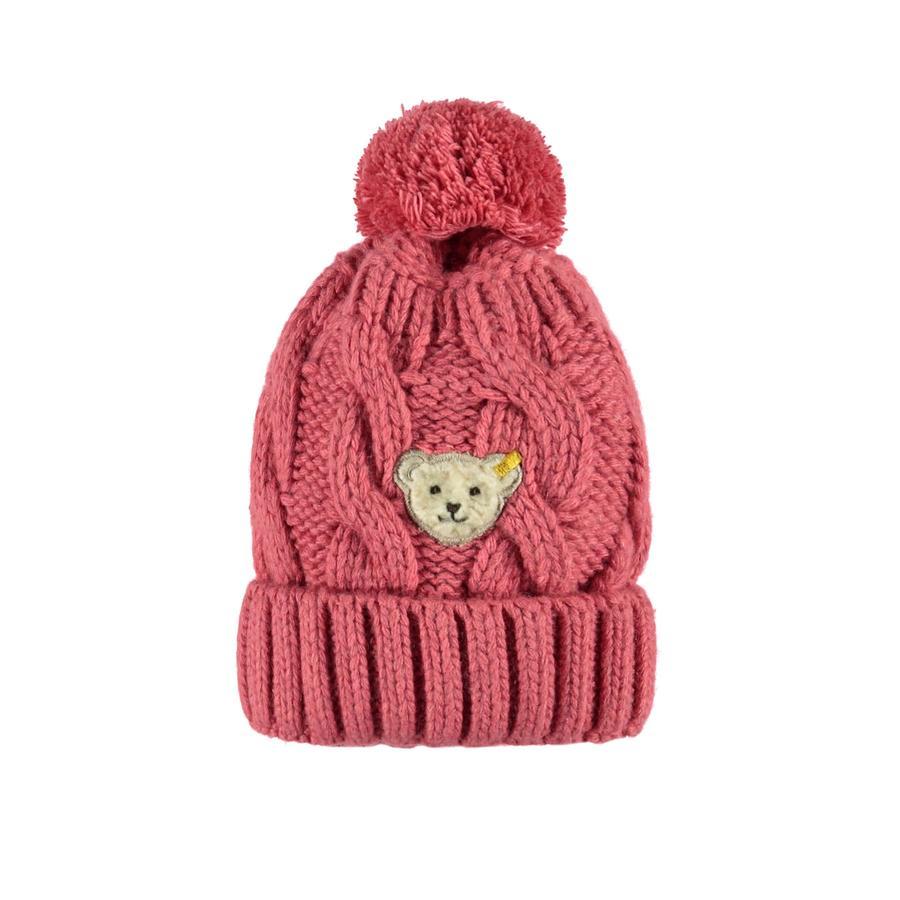 Steiff Girls Pletená čepice, růžová