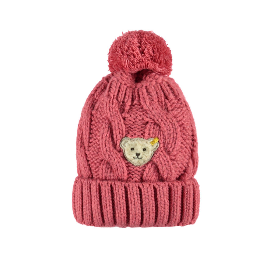 Steiff Girls Strickmütze rosé