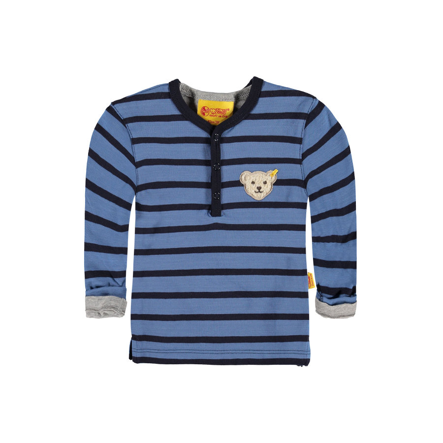 Steiff Boys Longsleeve 2-in-1 blue/grey