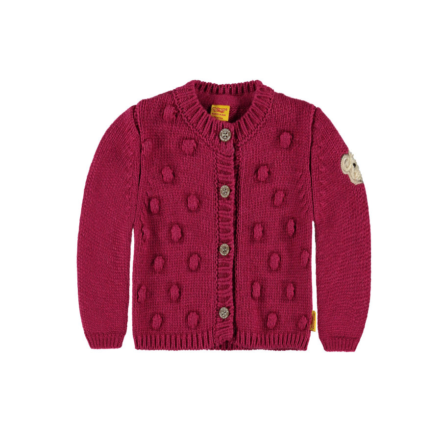 Steiff Girls Strickjacke sangria