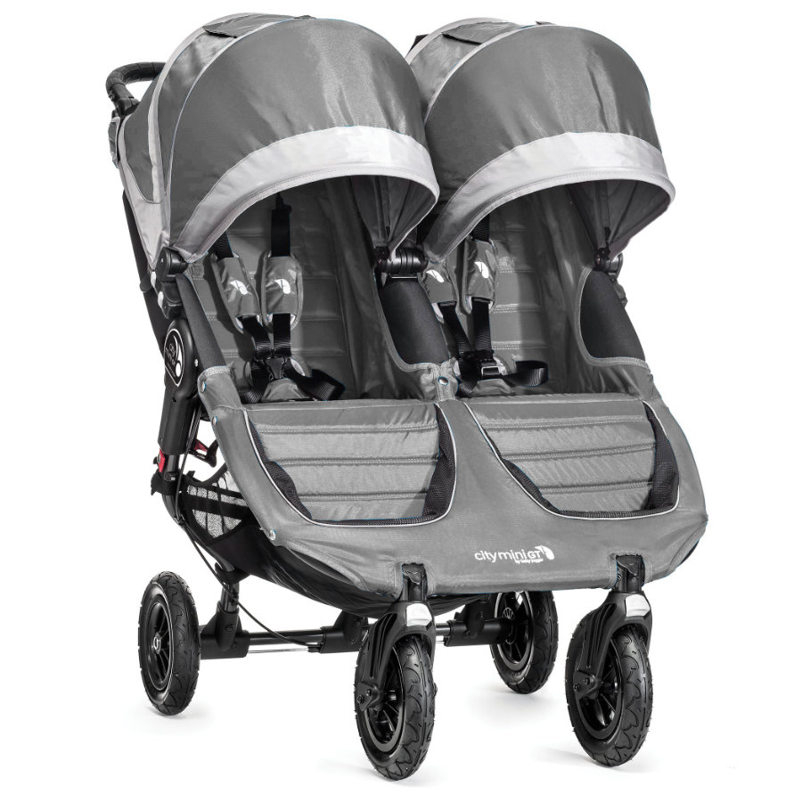 Baby Jogger Tvillingvagn City Mini GT Double Steel / Gray