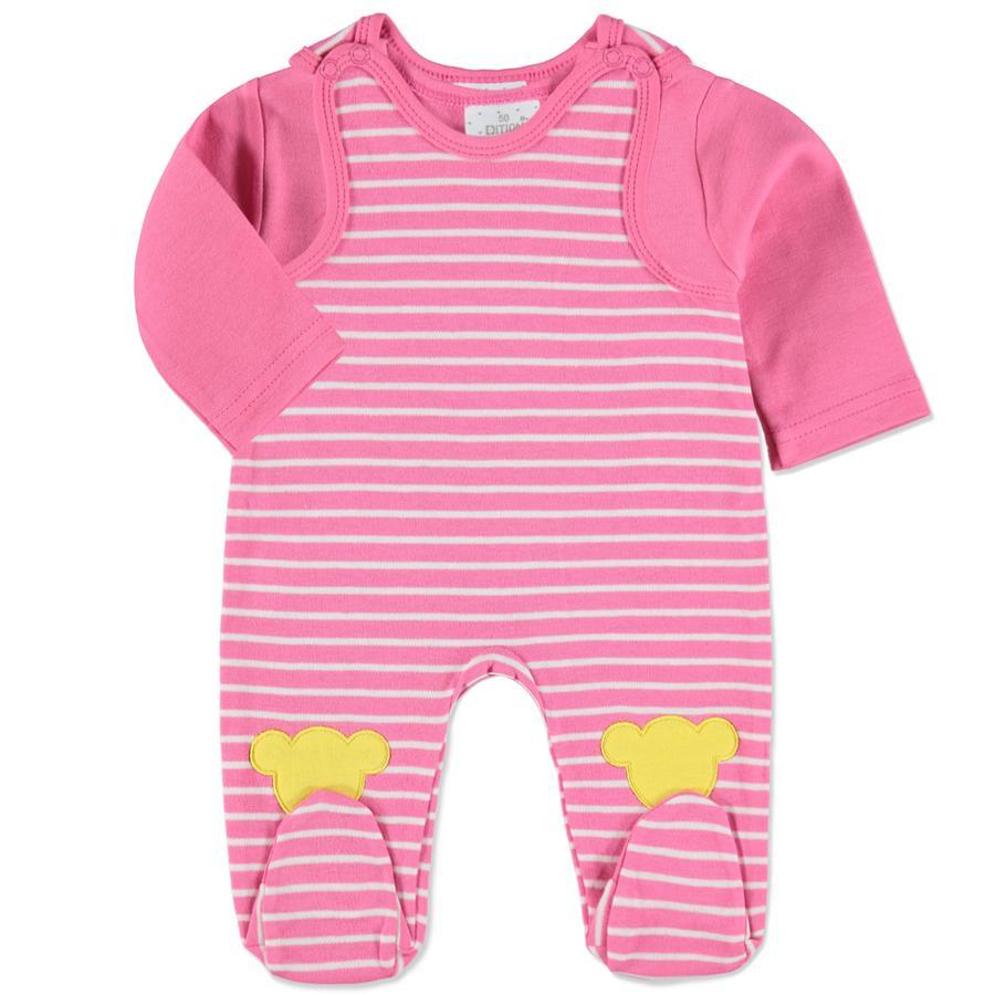 EDITION4Babys Girls Stramplerset pink gestreift