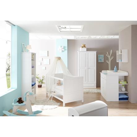 TiCAA Babyzimmer Moritz 5-teilig Kiefer weiß