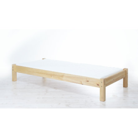 TICAA Lit simple Dora, pin naturel, 100 x 200 cm