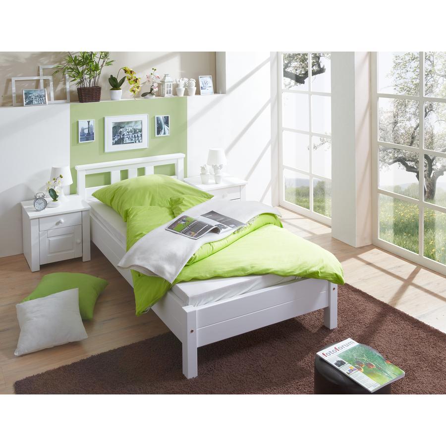 TiCAA Einzelbett Merci 100 x 200 cm Weiß