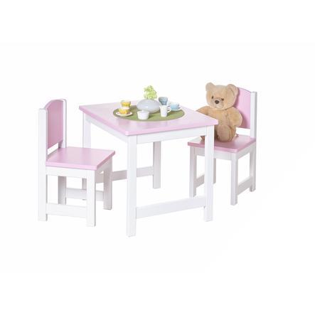TiCAA Kinder Tischgruppe 3-teilig rosa