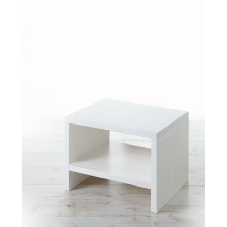 TICAA Table de chevet Harry, pin massif, blanc