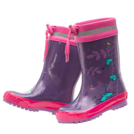 "maximo Girls Gummistiefel ""Be my friend"" petunie"
