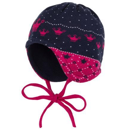 maximo Girl s Cap met stropdas marine/donkerrose