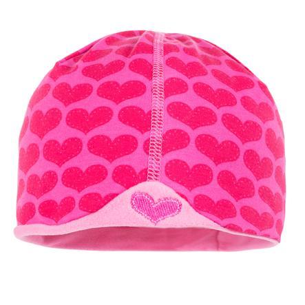 maximo Girls Čepice Beanie hearts pink (krátká)