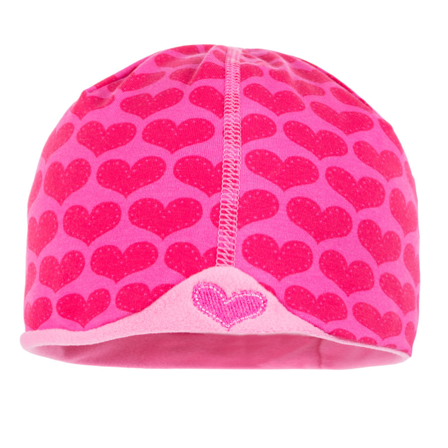 maximo Girl s Bonnet Coeurs roses (court)