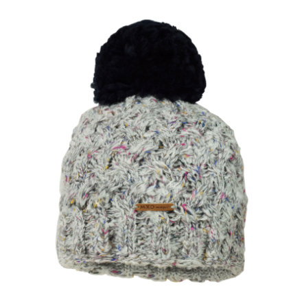 maximo Mütze mit Bommel graubunt/blau