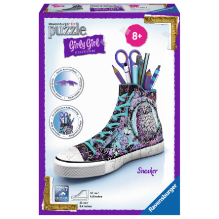 Ravensburger 3D Puzzle - Girly Girl Edition: Sneaker - Animal Trend