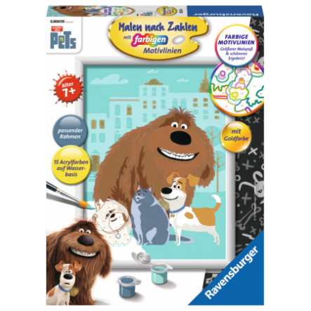 Ravensburger Malen nach Zahlen - The Secret life of pets: Pets