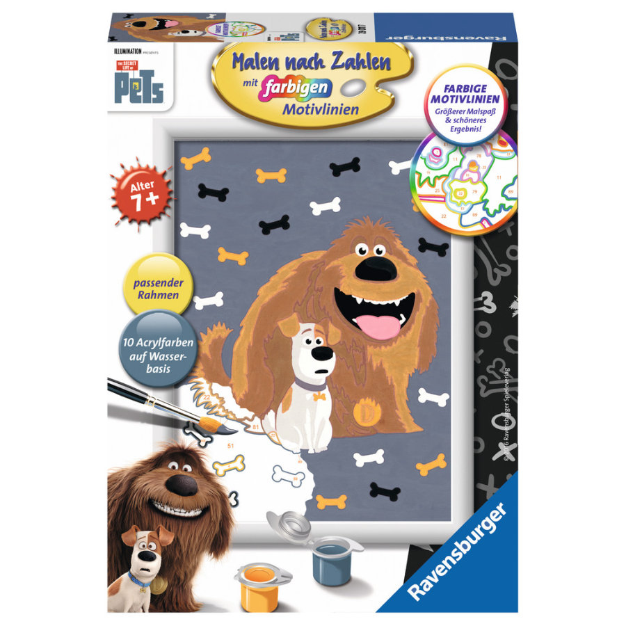 Ravensburger Malen nach Zahlen - The Secret life of pets: Max und Duke