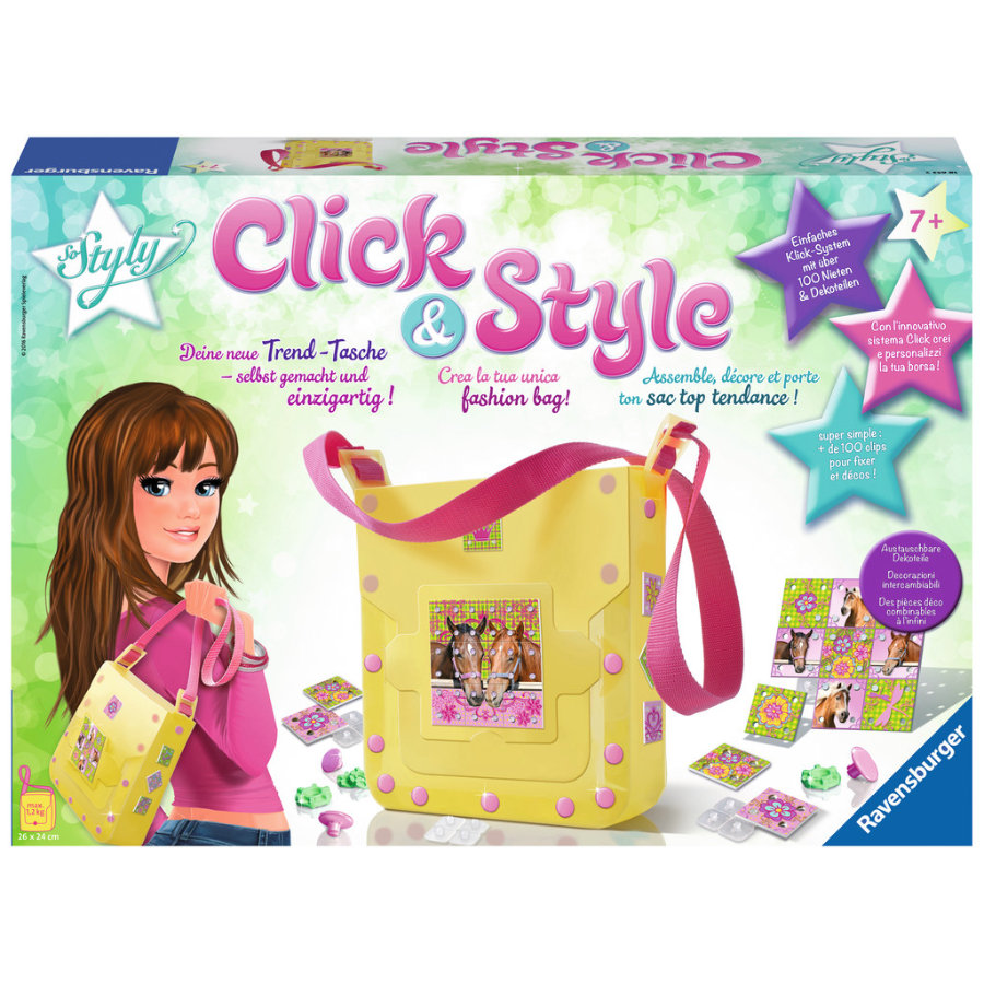 Ravensburger Click and Style - Schultertasche Pferd