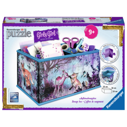 Ravensburger 3D Puzzle - Girly Girl Edition: Aufbewahrungsbox - Animal Trend