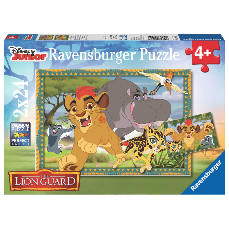 Ravensburger Puzzle 2x 24 Teile  - Disney Junior Lion Guard: Abenteuer in der Savanne