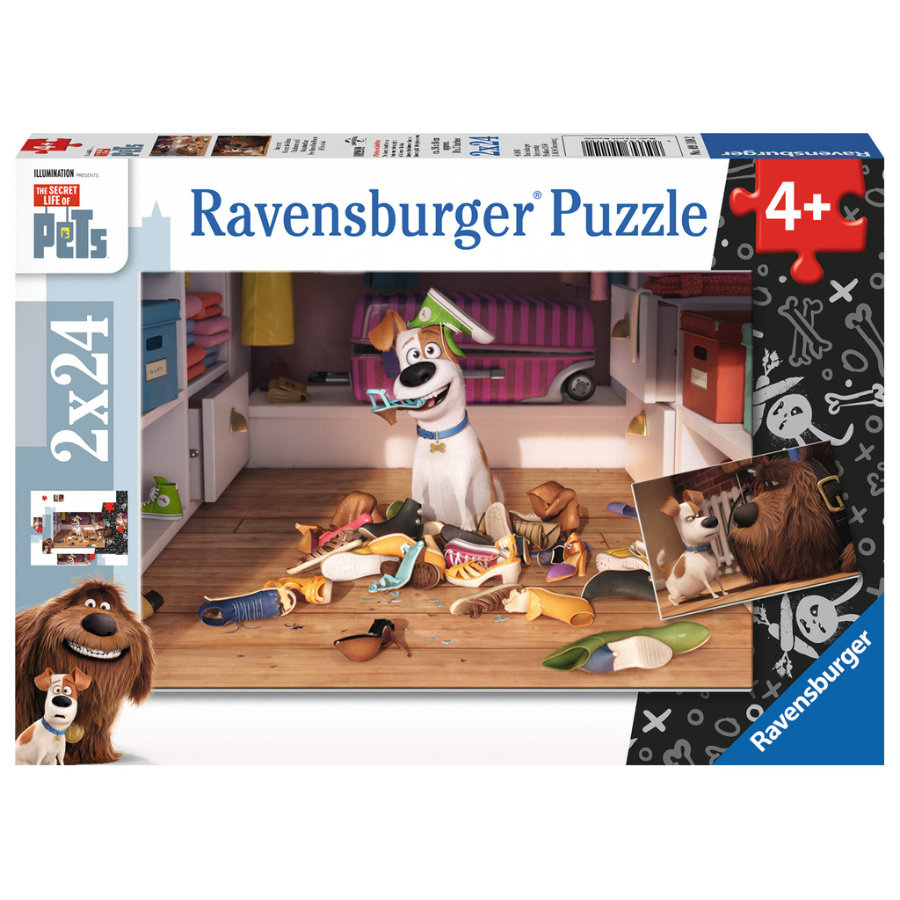 Ravensburger Puzzle 2x 24 Teile  - The Secret life of Pets: Sturmfrei