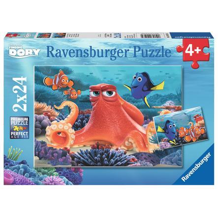 Ravensburger Puzzle 2x 24 Teile  - Disney Pixar Findet Dory: Immer schwimmen