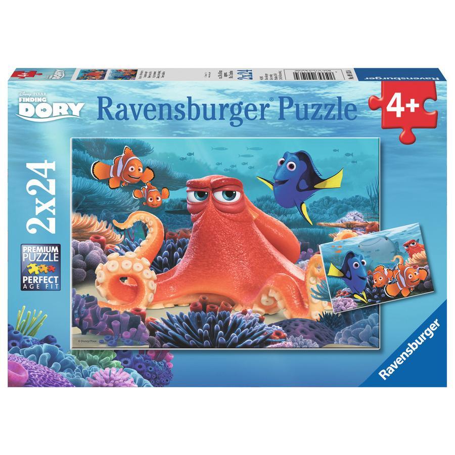 Ravensburger Puzzle 2x24 elementy - Disney Pixar Gdzie jest Dory: Pływanie